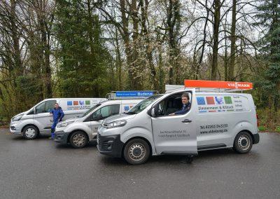 Unsere vollausgestatteten Kundendienstfahrzeuge